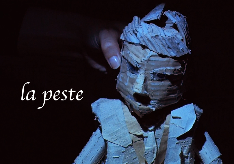 ダンボール人形劇『ペスト la peste (アルベール・カミュ原作/宮崎嶺雄訳)』